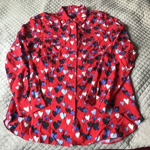 talbots long sleeve  cute red and hearts